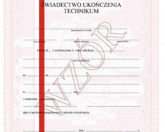 Rozdanie świadectw dla absolwentów Technikum Zawodowego Nr 2