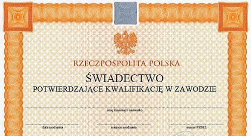 dyplom kwalifikacje zawodowe